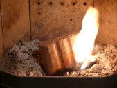 Wood briquettes — Stock Photo