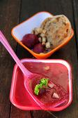 Zuppa di barbabietole rosse — Foto Stock