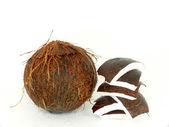 Open kokosnoot — Stockfoto