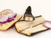 Eels bread roll — Stock Photo