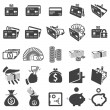 Set of money icons — Stock Vector #16229297