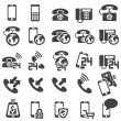 Set of phone icons — Stock Vector #16230177