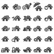 Set of home icons - Stockvectorbeeld