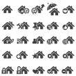 Set of home icons - Vettoriali Stock