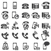 Set of phone icons — Stock Vector