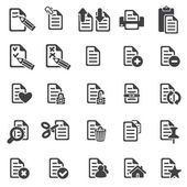 Set of files icons — Stock Vector