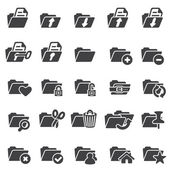 Set of folder icons — Stock Vector