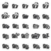 Set of folder icons — Stock Vector