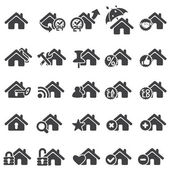 Set of home icons — Stock Vector