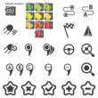 Set of navigational icons — Stock Vector #16344755
