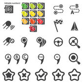 Set of navigational icons — Stock Vector
