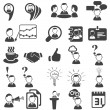 ストックベクタ: Set of business icons