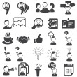 Stock vektor: Set of business icons