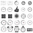 Set Uhren-icons — Stockvektor