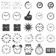 Set of watch icons — Stockvectorbeeld