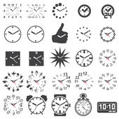 Set of watch icons — Stock Vector