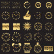 Set of watch icons - Stock Vector