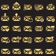 Royalty-Free Stock Vector Image: Set of mail icons
