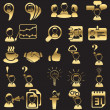 Set of business icons - Vettoriali Stock