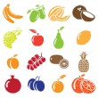 Set of fruits and vegetables icons — Stock Vector #17373541