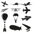 Royalty-Free Stock Vector Image: Set of flying icons