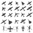 Royalty-Free Stock Vector Image: Icons set Airplanes