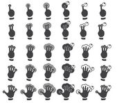 Set of multitouch gestures — Stock Vector