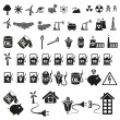 Royalty-Free Stock Vector Image: Energy and resource icon set