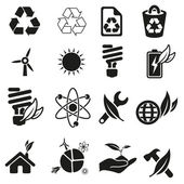 Energy and resource icon set — Stock Vector