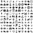图库矢量图片: Universal web icons set