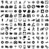 Ensemble d'icônes web universel — Vecteur