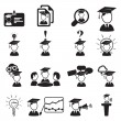 Stock Vector: Education icons set