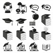 Education icons set - Stockvectorbeeld