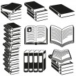 Set of icons of books. — Stock Vector
