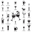 Royalty-Free Stock Imagen vectorial: Glass set