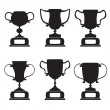Black trophy and awards icons set — Stock Vector #23722651