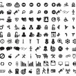 Black business icons set on white — Stock Vector