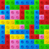 Plastic construction blocks. — Stock Vector