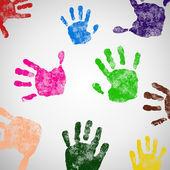 Colored Hand Print icon. — Stock Vector