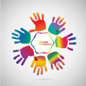 Hand Print icon. — Stock Vector