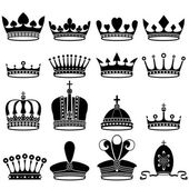 Set of crowns — Stock Vector