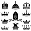 Stock Vector: Set of crowns