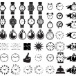 Icon set clocks — Vector de stock