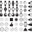 Stock Vector: Icon set clocks