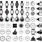pictogrammenset klokken — Stockvector