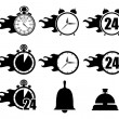 Icon set clocks — Stockvectorbeeld