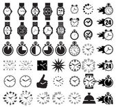 Icon set clocks — Vettoriale Stock