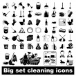 Stock Vector: Big set Cleaning Icons