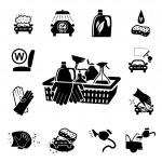 Car wash icons set — Stock Vector