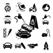 Car wash icons set — Stock Vector #32939845